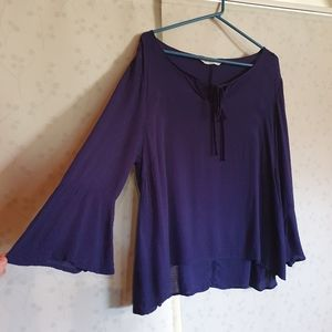 Size 16 Purple Bell sleeve top/blouse